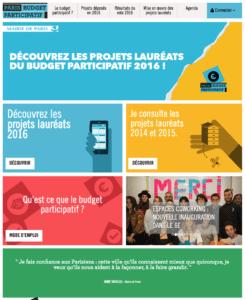 Budget participatif Paris