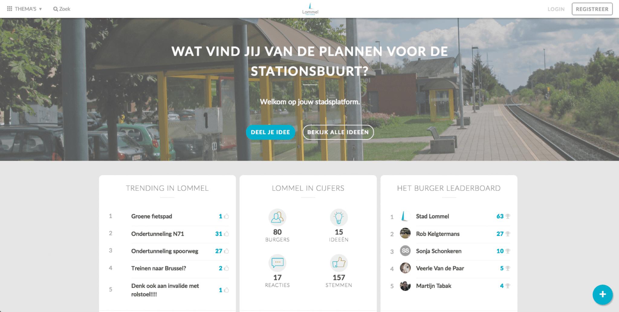 Co-creation platform Lommel