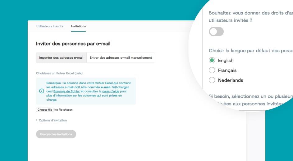 Les invitations : conviez plus facilement les utilisateurs sur votre plateforme