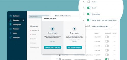 Met de nieuwe 'Smart Groups' kun je gemakkelijk gebruikers segmenteren