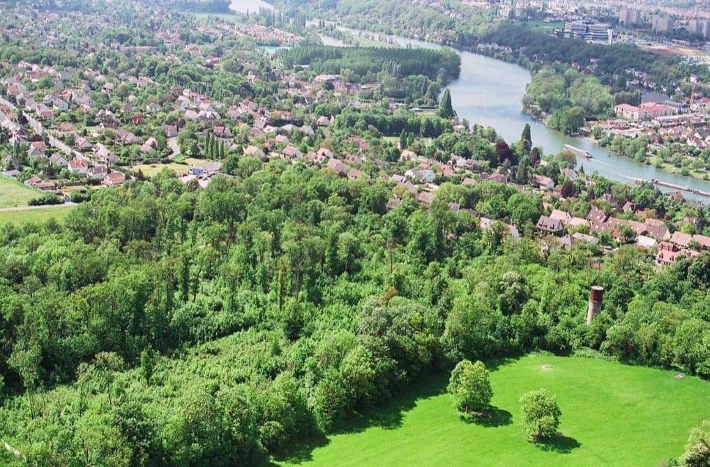 Aerial view of Grand Paris Sud