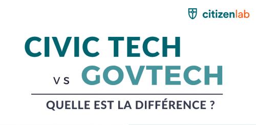 Quelle est la différence entre Civic Tech et GovTech ?