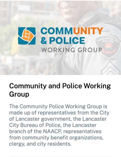 Lancaster's Community and Police Working Group description