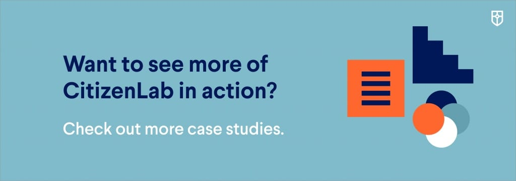 Button to view more CitizenLab case studies