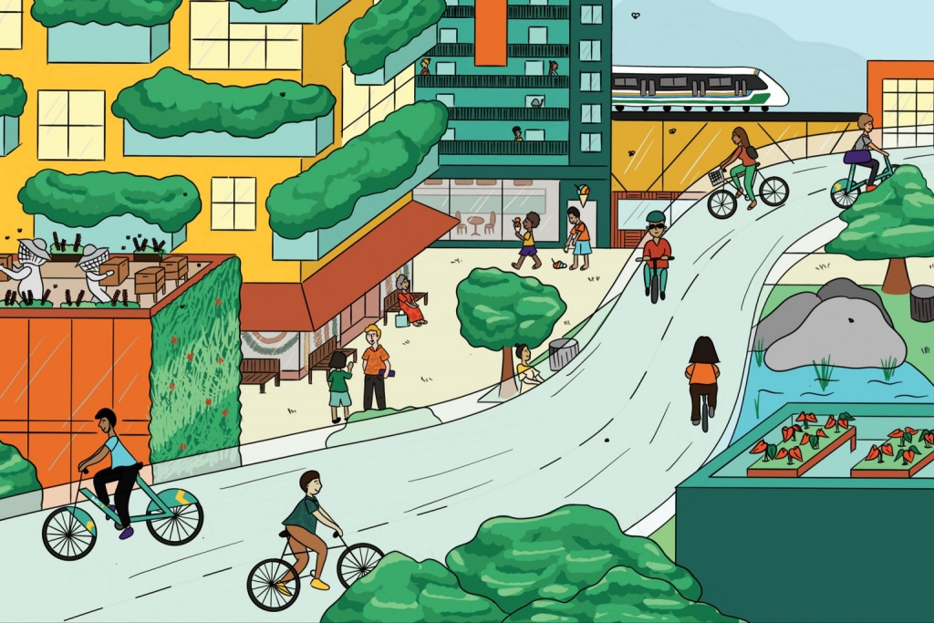 cartoon depiction of a city
