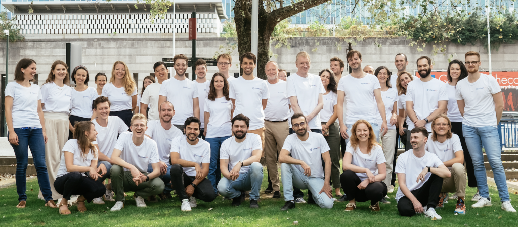 Photo of the CitizenLab team outdoors